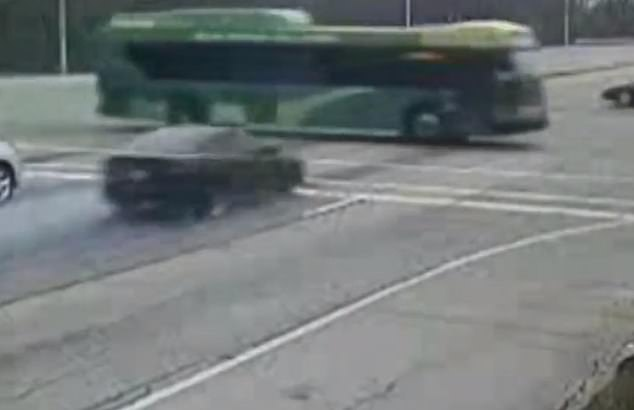 WATCH: Car Fleeing Traffic Stop in Dayton, OH, Crashes Into Bus