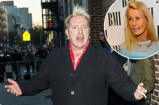 John Lydon aka Johnny Rotten and his wife Nora Forster (Inset) Getty Images
