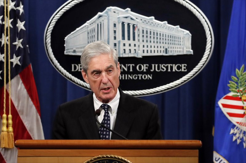 Special counsel Robert Muller speaks at the Department of Justice Wednesday, May 29, 2019, in Washington, about the Russia investigation. (AP Photo/Carolyn Kaster)
