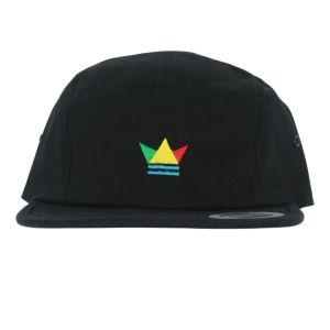 Black 5 panel hat