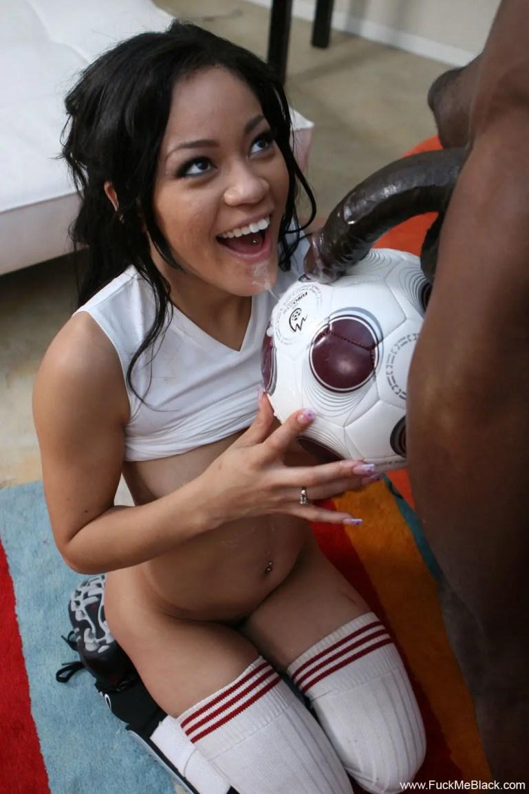Cumming On Her Ball - image  on https://blackcockcult.com