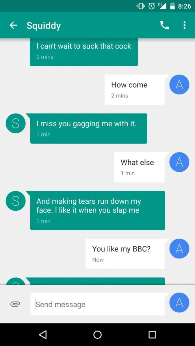 White Girl Begging for BBC Through Texts - image  on https://blackcockcult.com