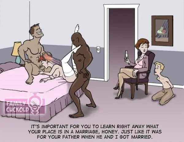 Inkstain's Family Cuckold Artwork - image  on https://blackcockcult.com