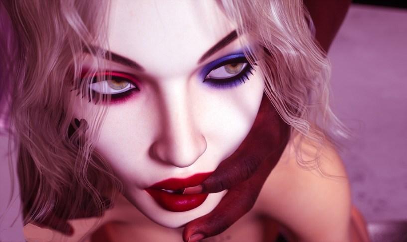 Harley Quinn Services a Black Cock - image  on http://blackcockcult.com