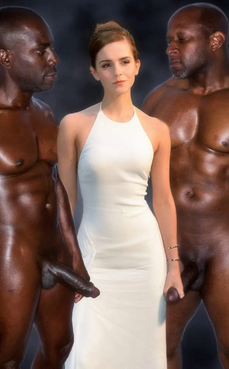 Emma Watson's Black Cock Addiction - image  on https://blackcockcult.com