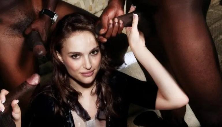 Natalie Portman is Addicted to Black Facials - image  on https://blackcockcult.com