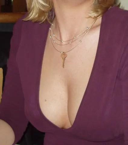 Chastity Keys Make Great Jewelry - I - image  on https://blackcockcult.com