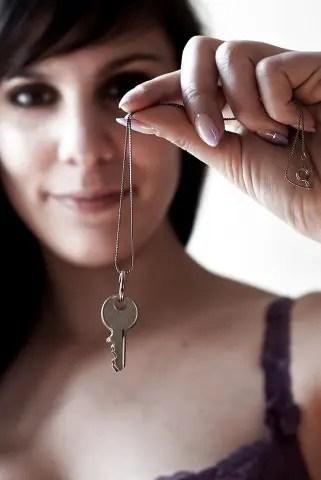 Chastity Keys Make Great Jewelry - II - image  on https://blackcockcult.com