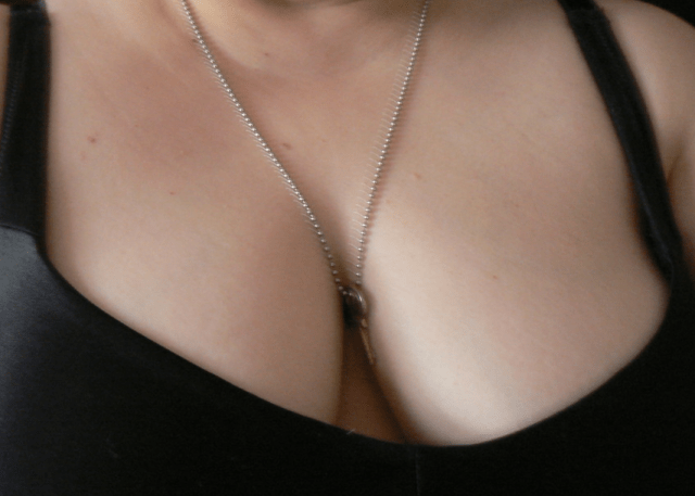 Chastity Keys Make Great Jewelry - III - image  on https://blackcockcult.com