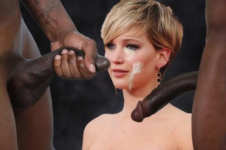 Jennifer Lawrence Goes Black Only - image  on https://blackcockcult.com