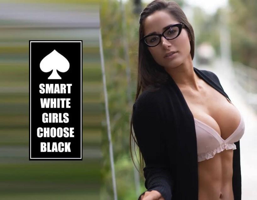Smart White Girls Choose Black - image  on https://blackcockcult.com