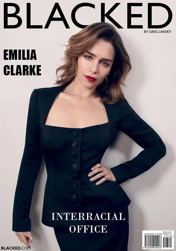 Blacked List: Emilia Clarke - image  on https://blackcockcult.com