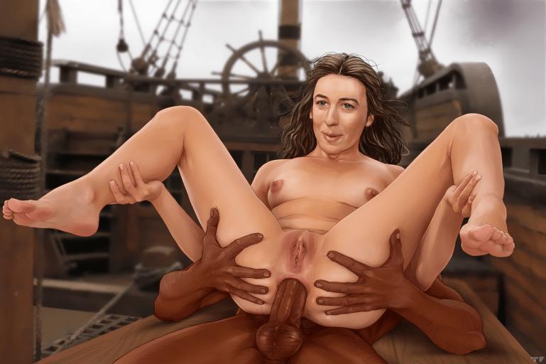 The Blacked Celebrity Artwork Of  TitFlaviy - image  on https://blackcockcult.com