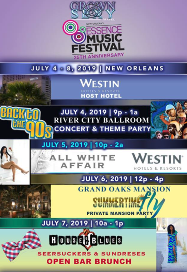Essence Festival 2019 Packages
