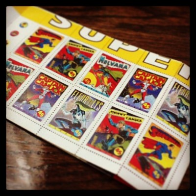 Postage stamps of Canadian Superheroes
