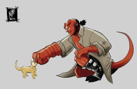 8/20 Hellboy and some random cat