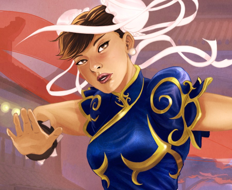 Classic Chun-li from Streetfighter 2