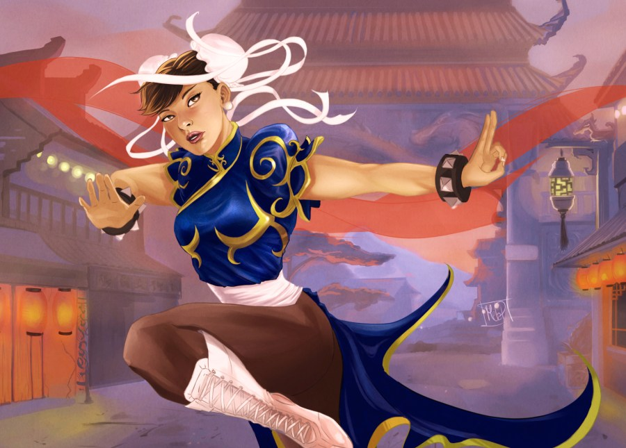 Classic Chun-li from Streetfighter 2 by Blackdaisies