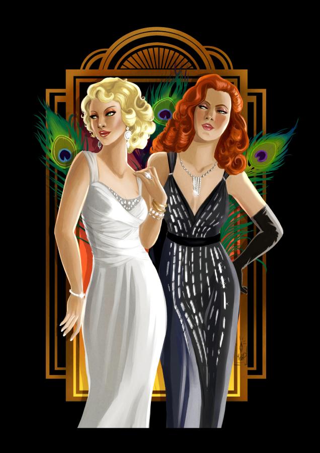 Nina and Dina Caliente by blackdaisies art prints at Redbubble