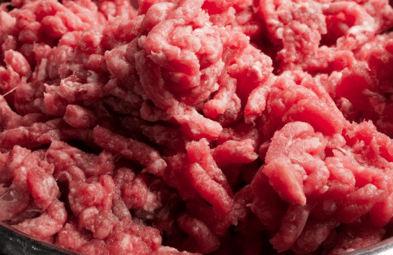 Ground beef close-up