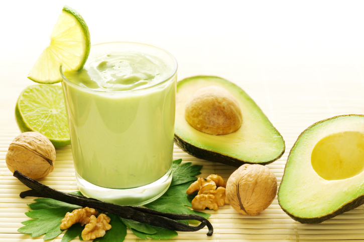 Avocado vanilla smoothie