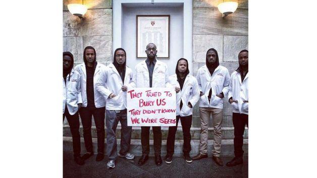 Image result for white coats for black lives we were seeds