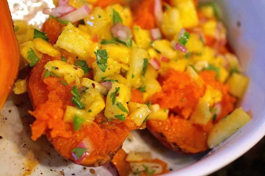 Roasted-Sweet-Potatoes-with-Pineapple-Salsa