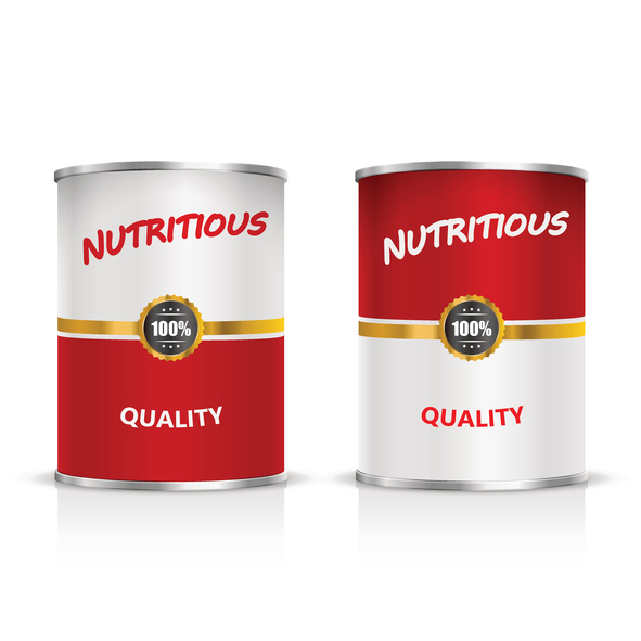 Metal can on a white background. Vector Illustration