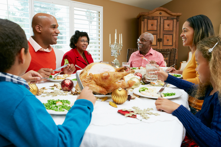 African American holiday dinner