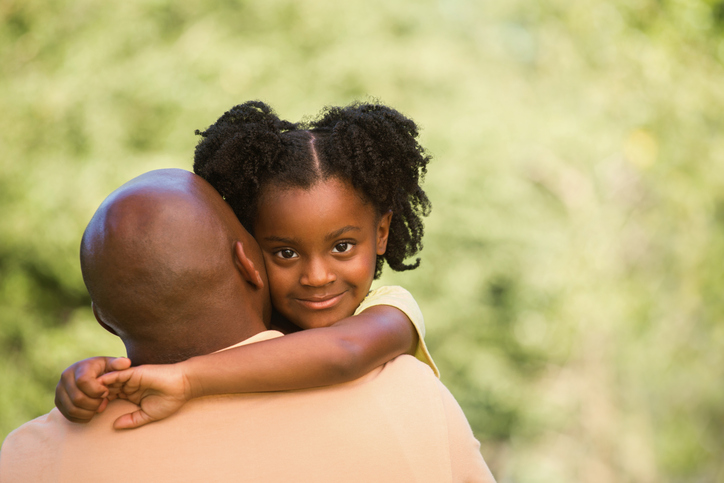 African american father and daughter