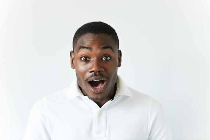 African American man yell