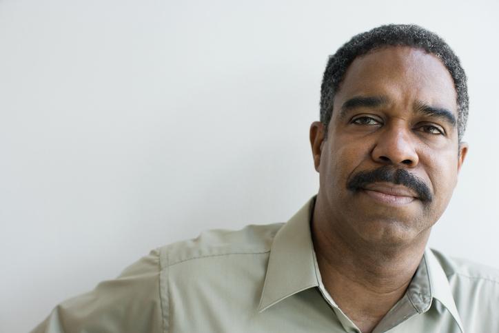 Older African American man serious