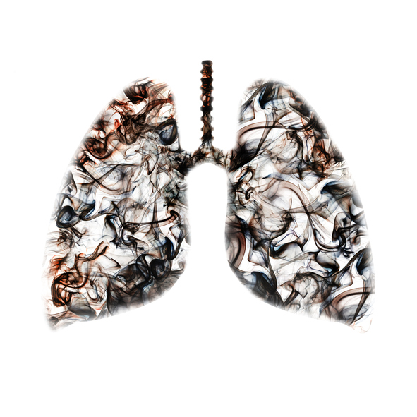 Smokers lungs concept
