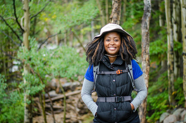 African American woman hiking GirlTrek