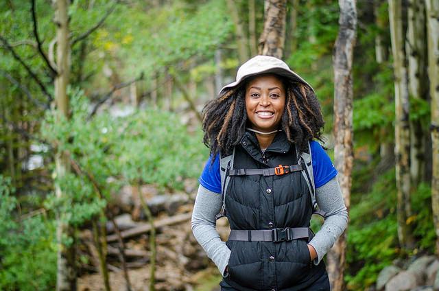 African American woman hiking GirlTrek