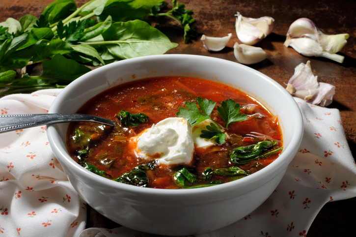 tomato soup with sour cream