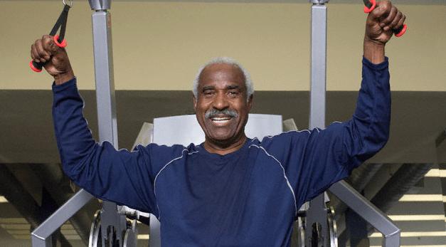 A man using a weight machine