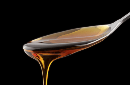A spoonful of caramel coloring