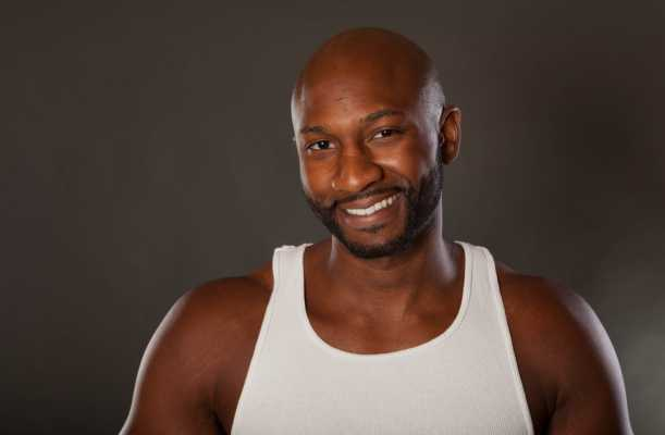 Fit African American Man balding gracefully