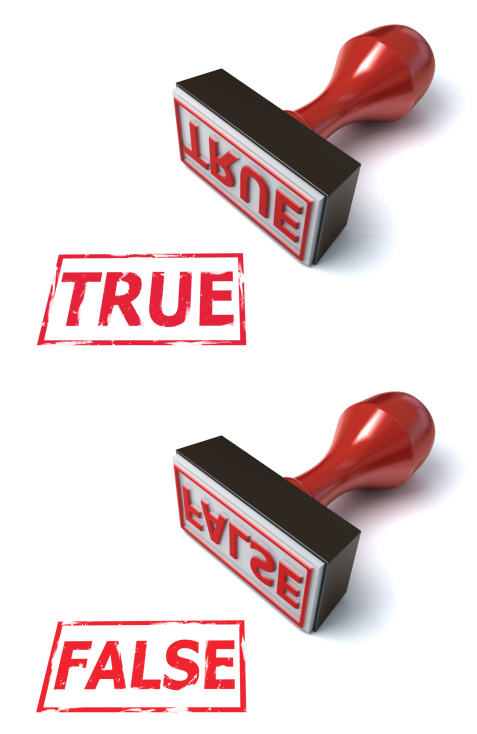 true false
