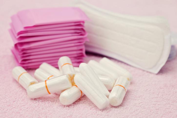 sanitary pads tampons