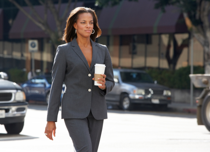 businesswoman walking