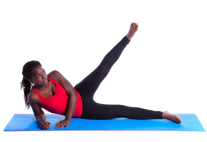 woman leg raise