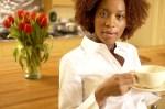 woman with tea