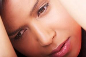 African American woman sad depressed