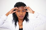 woman serious stressed