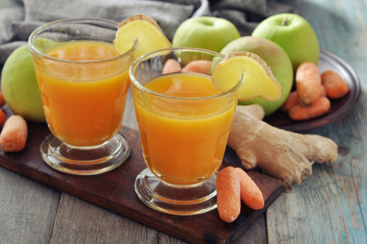 orange ginger apple juice