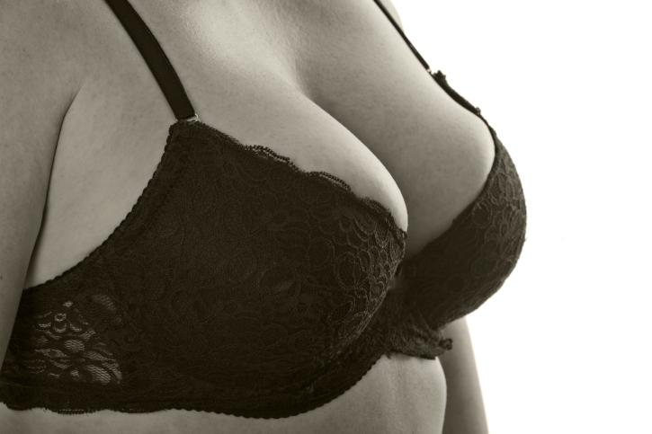 Women's breasts in a bra