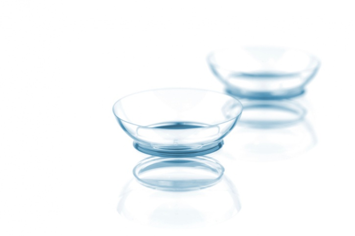 contact lenses on white