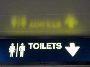 Public washroom sign